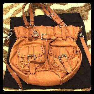 Handbags - Leather tan bag